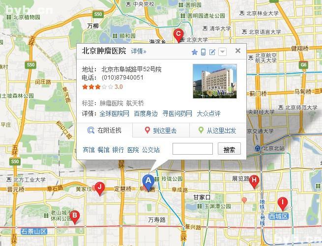 2012北京癌症分布地图