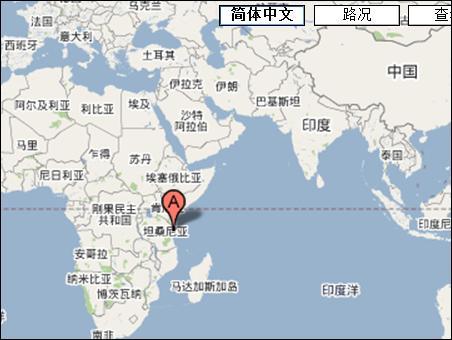 google地图,红色的位置就是纷给巴尔岛