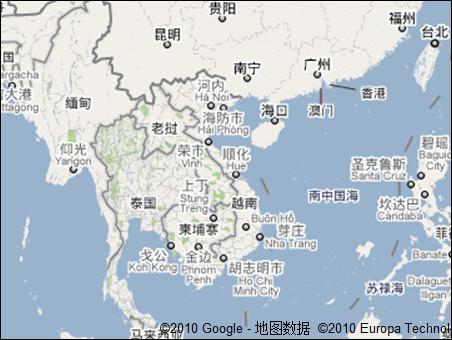 google地图,柬埔寨